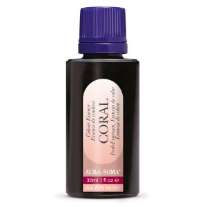 Esencia de color coral Aurasoma. 30ml