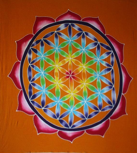 Batik Flor De La Vida Naranja 58355 None Bohindra Libros