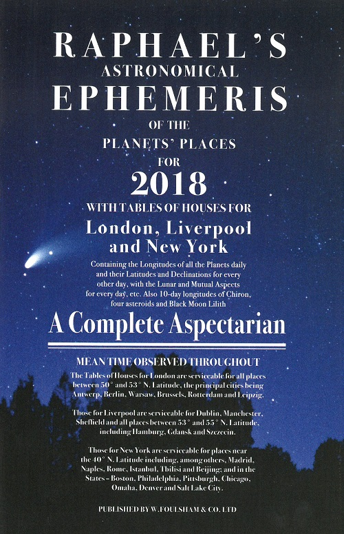 Rafael's Astrological Ephemerides 2018